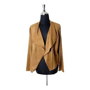 NWT Talie Faux Suede Wrap Front Jacket Small